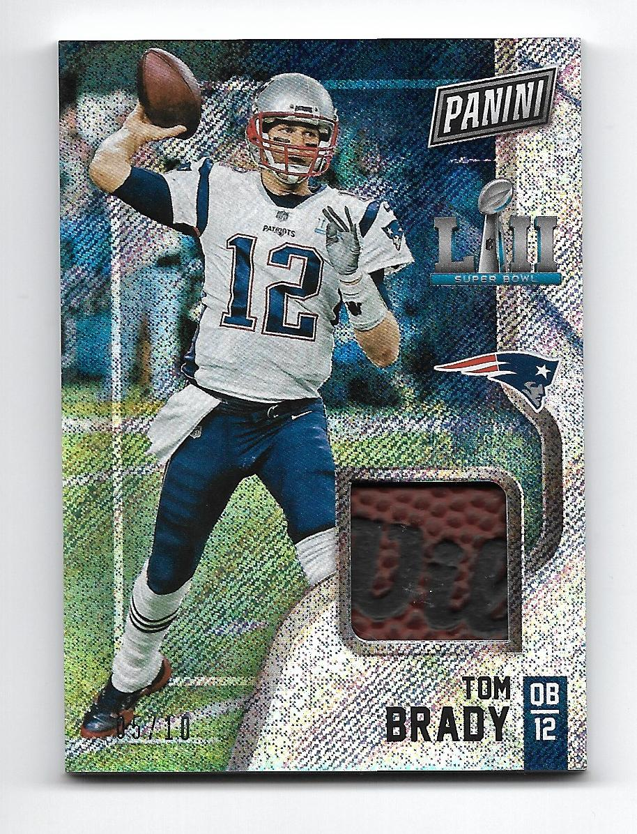 2018 Panini Black Friday Super Bowl Memorabilia Rapture  10 Tom Brady 05272ea9f