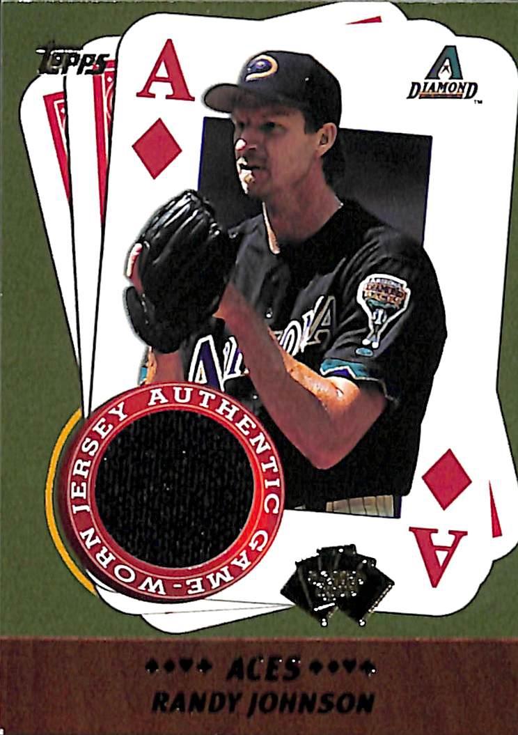the latest f8d01 b6d98 2002 Topps 5-Card Stud Aces Relics #5ARJ Randy Johnson Jersey Diamondbacks
