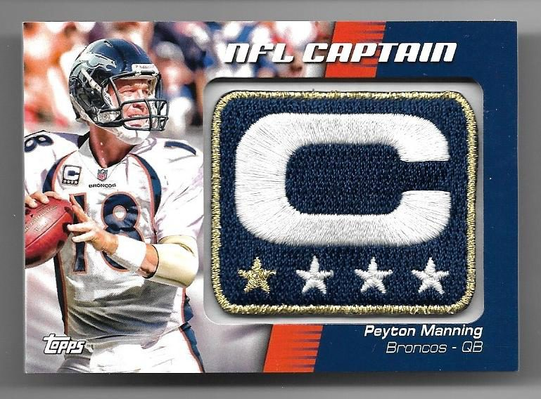 2012 Topps Nfl Captains Patches Ncppm Peyton Manning