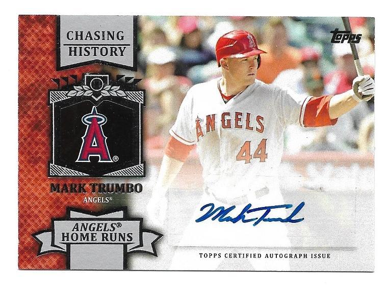 2013 Topps Chasing History Autographs Mat Mark Trumbo