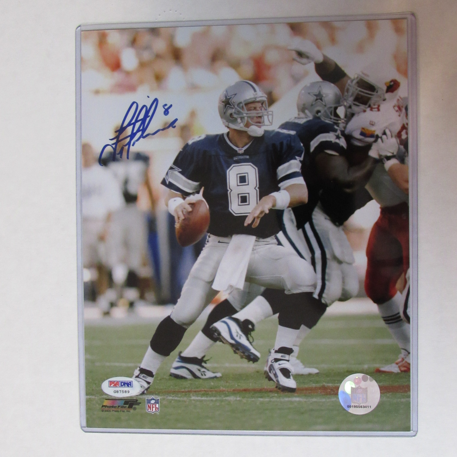 reputable site 35a54 84b56 Troy Aikman Autographed 8 X 10 Photograph with COA