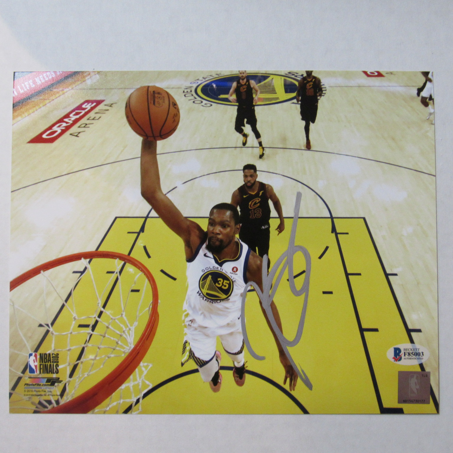 info for 57c77 6bda2 Kevin Durant Autographed 8 X 10 Photograph with COA